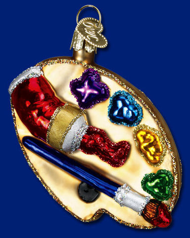 Artist's Palette Christmas Ornament