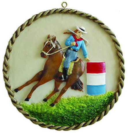 Barrel Racer Christmas Ornament