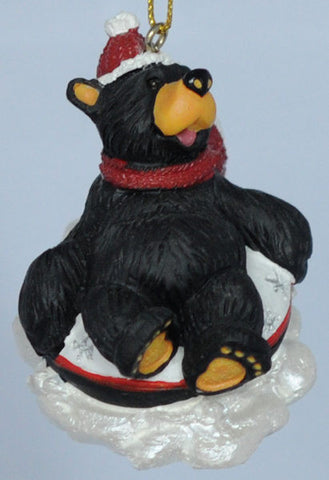 Snow Tubing Bear Christmas Ornament