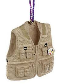 Fly Fishing Vest Christmas Ornament