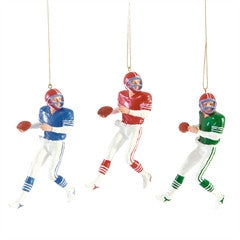 Quarterback Christmas Ornaments (set of 3)