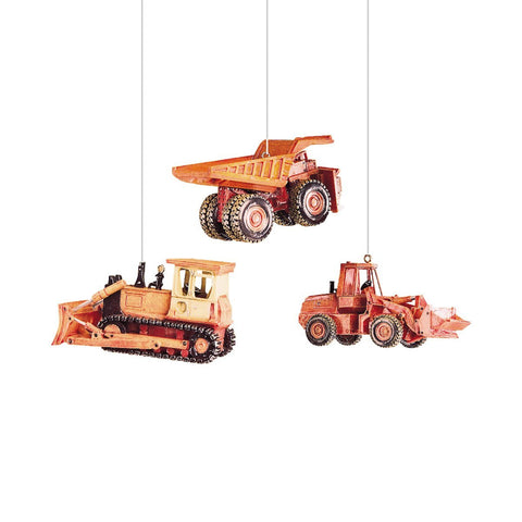 Construction Ornament, Assorted of 3