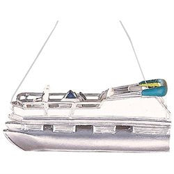 Pontoon Boat Christmas Ornament