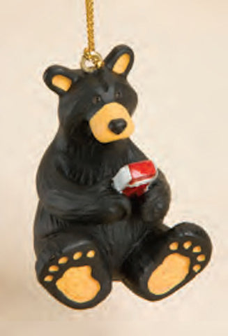 Texting Bear Christmas Ornament