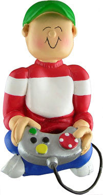 Male Video Game Player Christmas Ornament