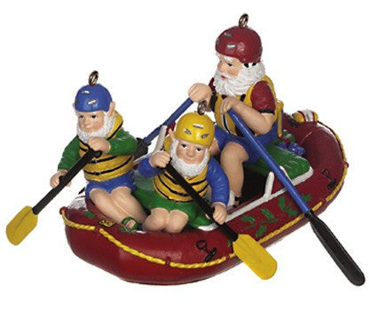 Whitewater Rafting Santas Christmas Ornament