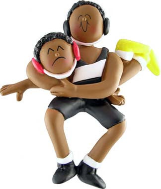 African-American Wrestling Christmas Ornament – Fun Christmas ...