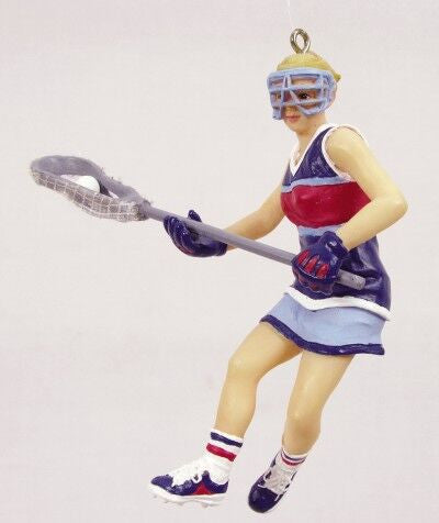Girl Lacrosse Christmas Ornament