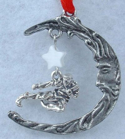 Moon & Karate Christmas Ornament