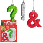 Punctuation Ornaments (Set of 3)