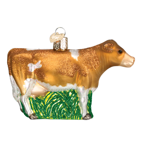 Brown Dairy Cow Ornament