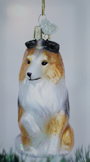 Old World Christmas Sheltie Glass Blown Ornament