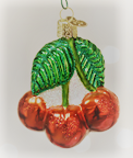 Old World Christmas Cherries Glass Blown Ornament