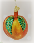 Old World Christmas Peach Glass Blown Ornament