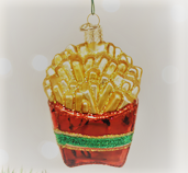 Old World Christmas French Fries Glass Blown Ornament