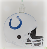 Old World Christmas Indianapolis Colts Glass Helmet Ornament