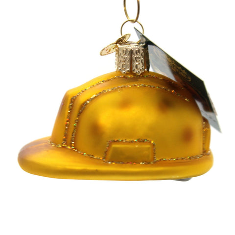 Old World Christmas Construction Helmet Glass Blow Ornament