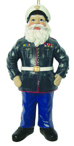 Army Santa Christmas Ornament