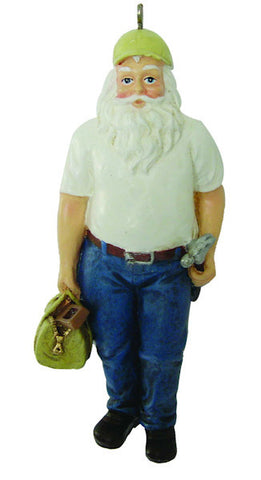 Carpenter Santa Christmas Ornament