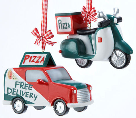 Pizza Delivery Christmas Ornaments