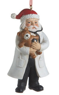 Santa Doctor Christmas Ornament