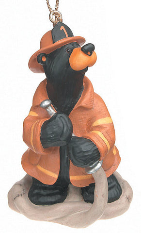 Fireman Bear Christmas Ornament