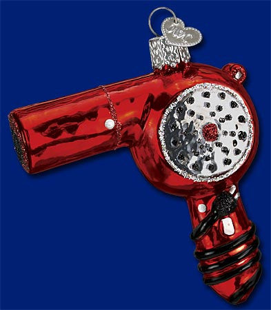 Blow Dryer Christmas Ornament