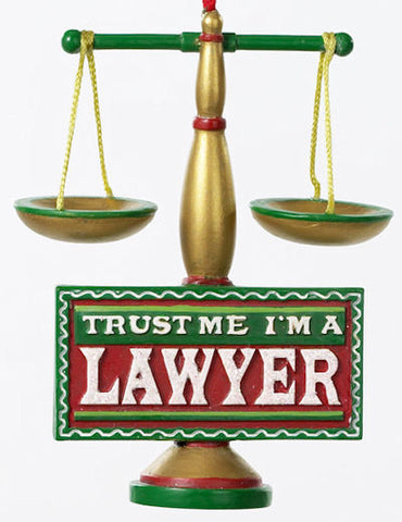 Trust Me I'm a Lawyer Christmas Ornament