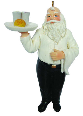 Waiter Santa Christmas Ornament