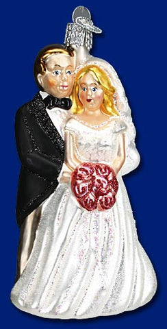 Bridal Couple Christmas Ornament