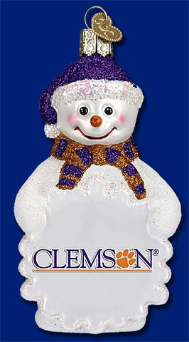 Clemson Snowman Christmas Ornament