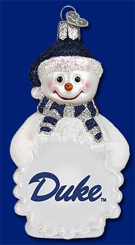 Duke Snowman Christmas Ornament