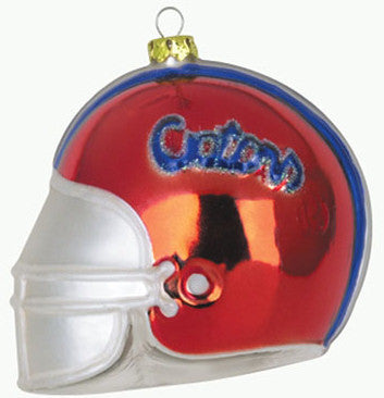 Florida Glass Football Helmet Christmas Ornament