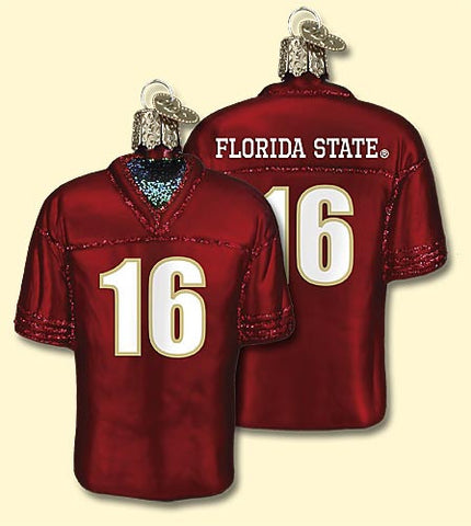 Florida State Football Jersey Christmas Ornament
