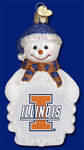 Illinois Snowman Christmas Ornament