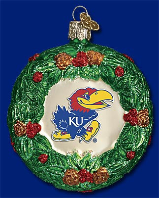 Kansas Wreath Christmas Ornament