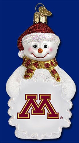 Minnesota Snowman Christmas Ornament