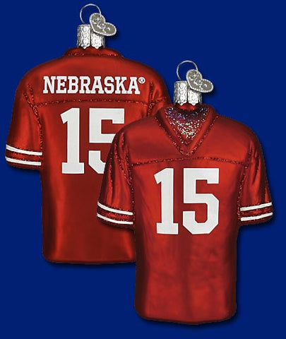 Nebraska Football Jersey Christmas Ornament