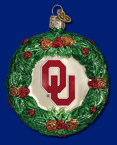 Oklahoma Wreath Christmas Ornament