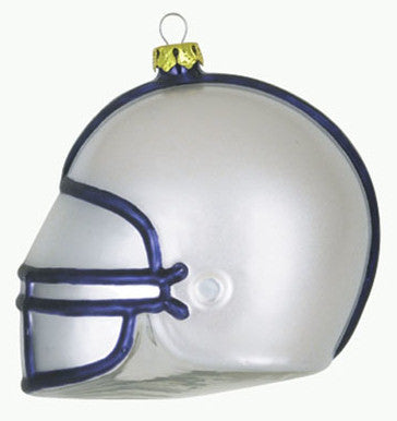 Penn State Glass Football Helmet Christmas Ornament