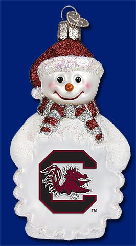 South Carolina Snowman Christmas Ornament