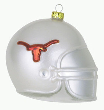 Texas Glass Football Helmet Christmas Ornament