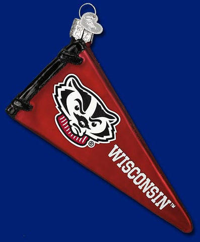 Wisconsin Pennant Christmas Ornament
