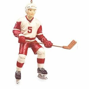 Male Hockey Player Christmas Ornament