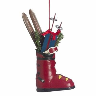 Ski Boot With Gifts Christmas Ornament