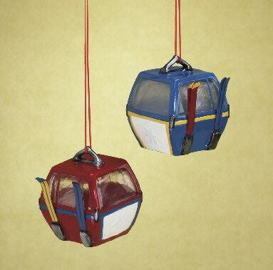 Gondola Christmas Ornament (Set of 2)