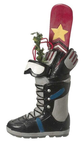 Snowboard in Boot Christmas Ornament