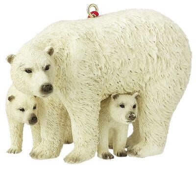 Polar Bear with Cubs Christmas Ornament