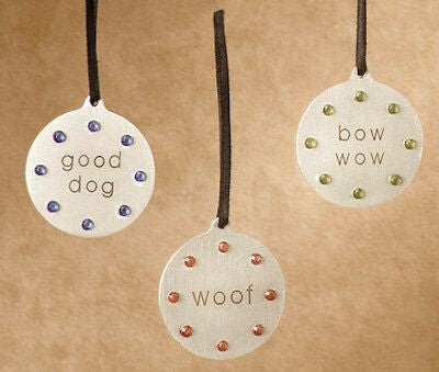Dog Tag Christmas Ornament (Set of 2)
