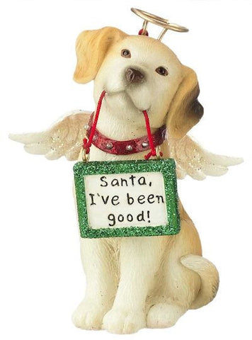 Dog Angel Christmas Ornament